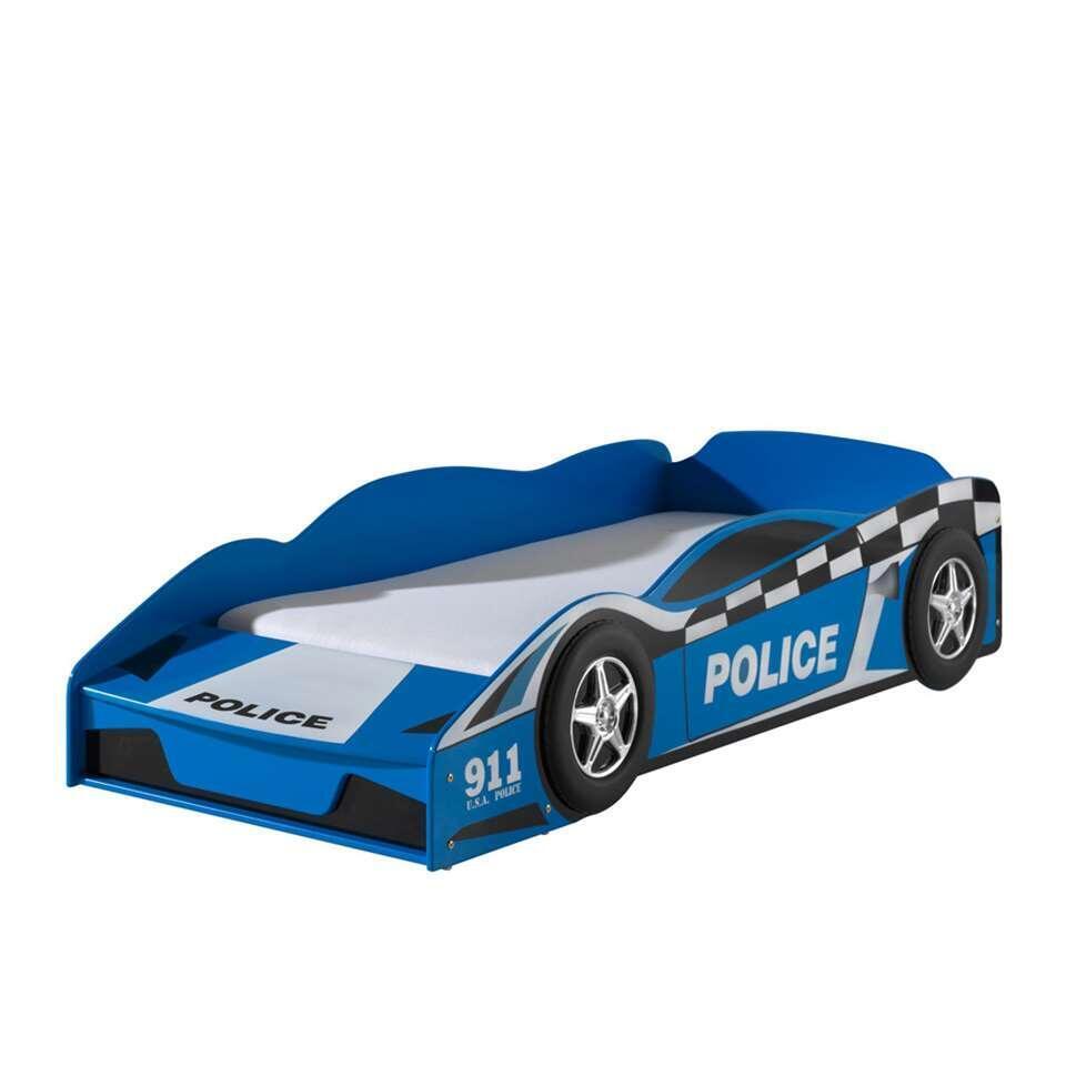 Vipack autobed Politie - blauw - 60x77x147,8 cm