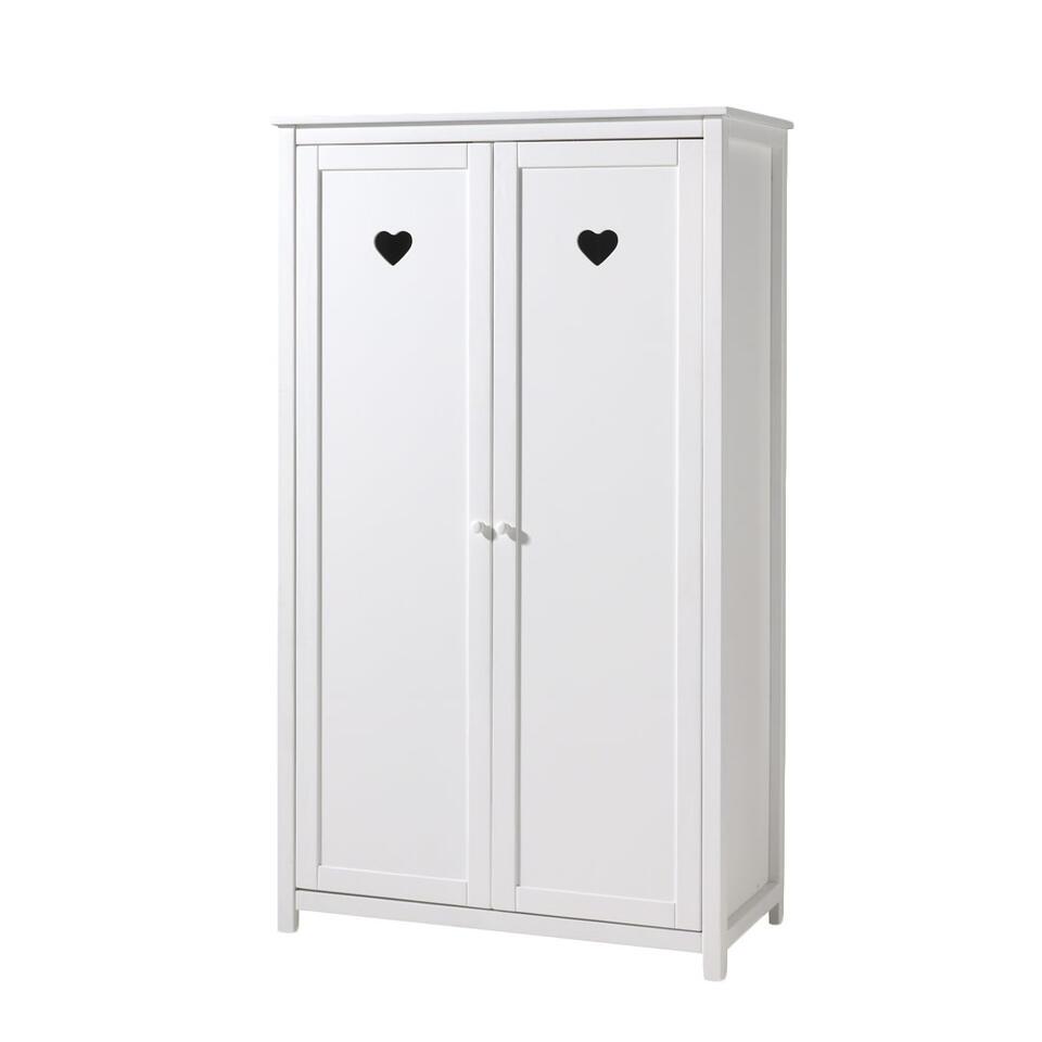 Vipack 2-deurs kledingkast Amori - wit - 190x110x57 cm - Leen Bakker