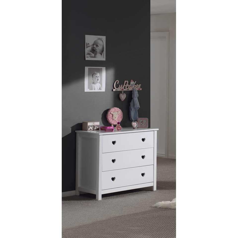 Vipack commode Amori 3 lades - wit - 90x85,2x50 cm