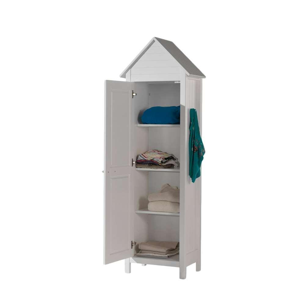 Vipack kledingkast strandhuis lewis wit for Kledingkasten outlet