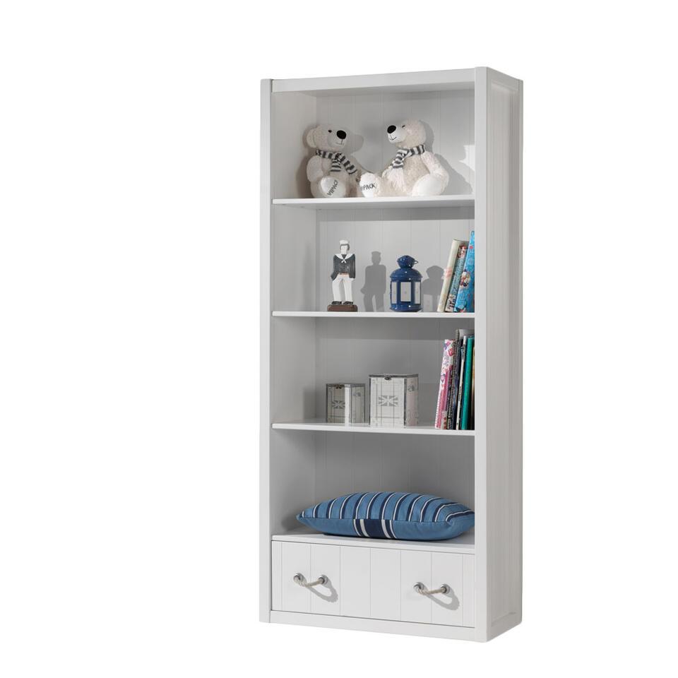 Vipack boekenkast Lewis - wit - 200x87x40 cm