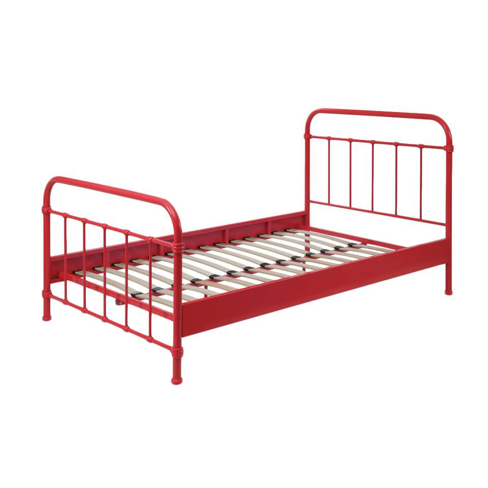 Vipack bed New York - rood - 120x200 cm
