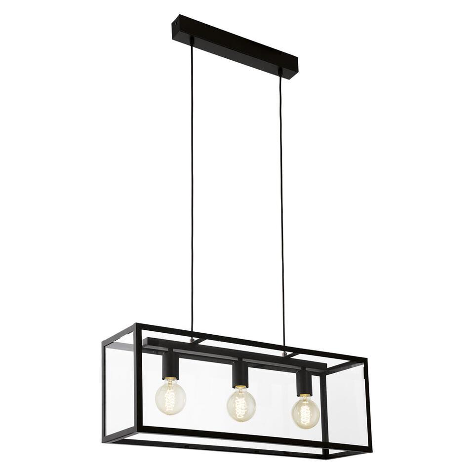 eglo hanglamp charterhouse 3 lichts zwarthelder