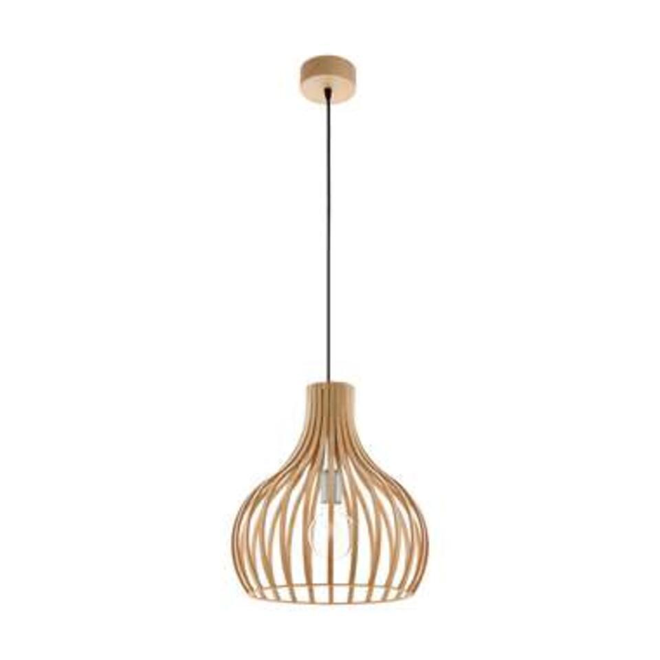 EGLO hanglamp Carnico - natuur/nikkelmat - Leen Bakker