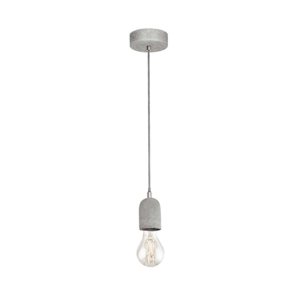 Hanglamp Silvares van EGLO is een simpele maar stoere lamp. De lamp is gemaakt van beton in de kleur grijs. De lamp is geschikt voor 1 lichtbron met E27 fitting.