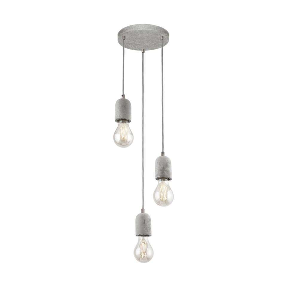Hanglamp Silvares van EGLO is een simpele maar stoere lamp. De lamp is gemaakt van beton in de kleur grijs. De lamp is geschikt voor 3 lichtbronnen met E27 fitting.