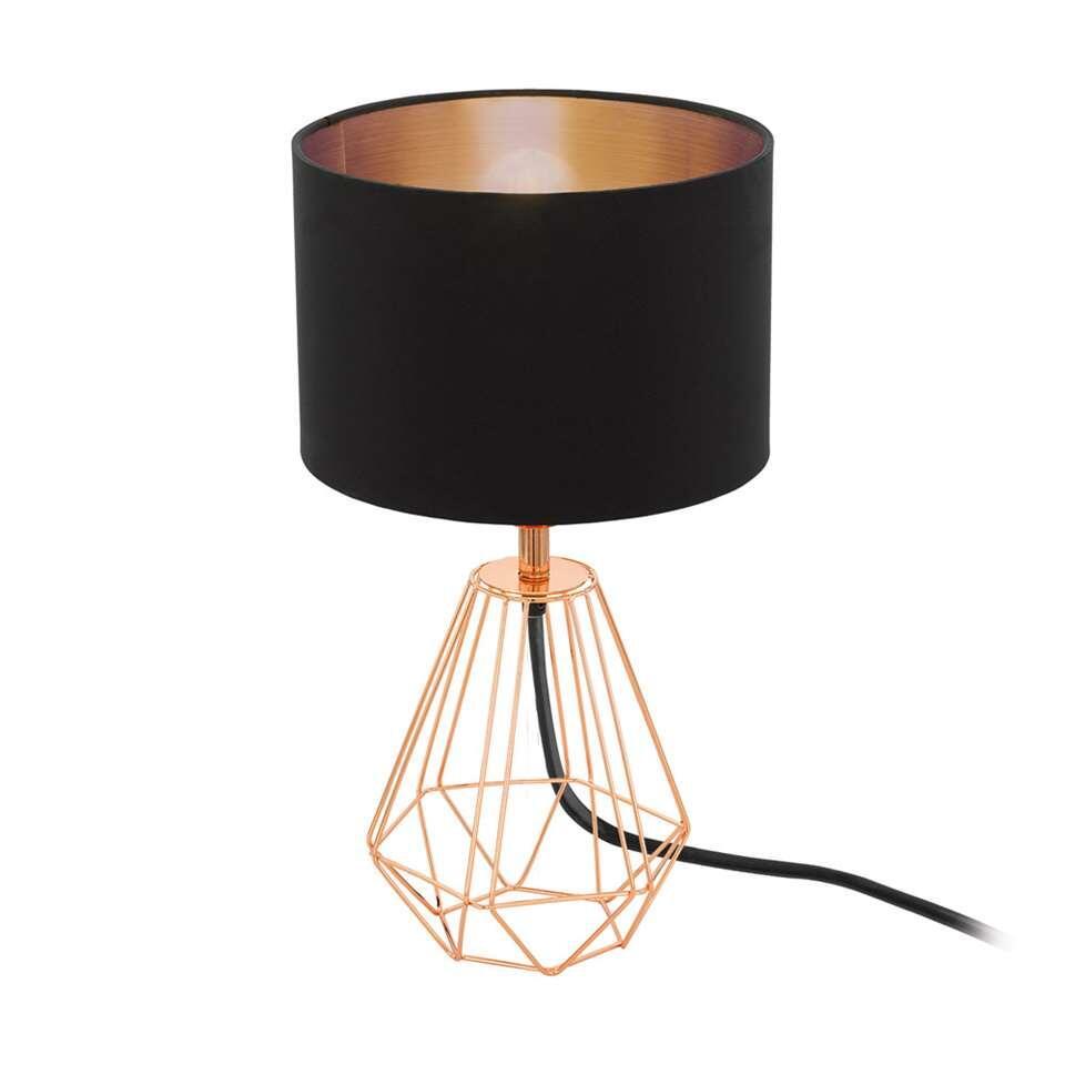 EGLO tafellamp Carlton 2 - zwart/koper - Leen Bakker