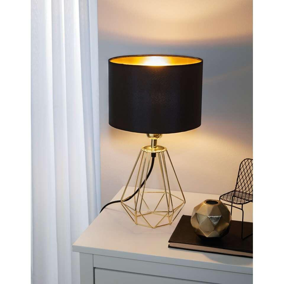 EGLO tafellamp Carlton 2 – zwart/goud – Leen Bakker