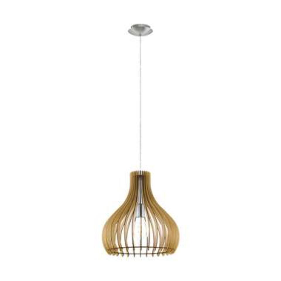 eglo hanglamp tindori ahornnikkelmat 38 cm