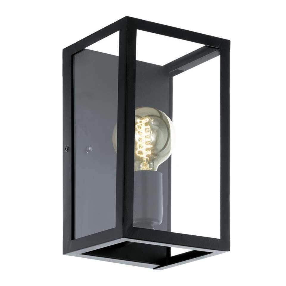 EGLO wandlamp Charterhouse - zwart/helder - Leen Bakker