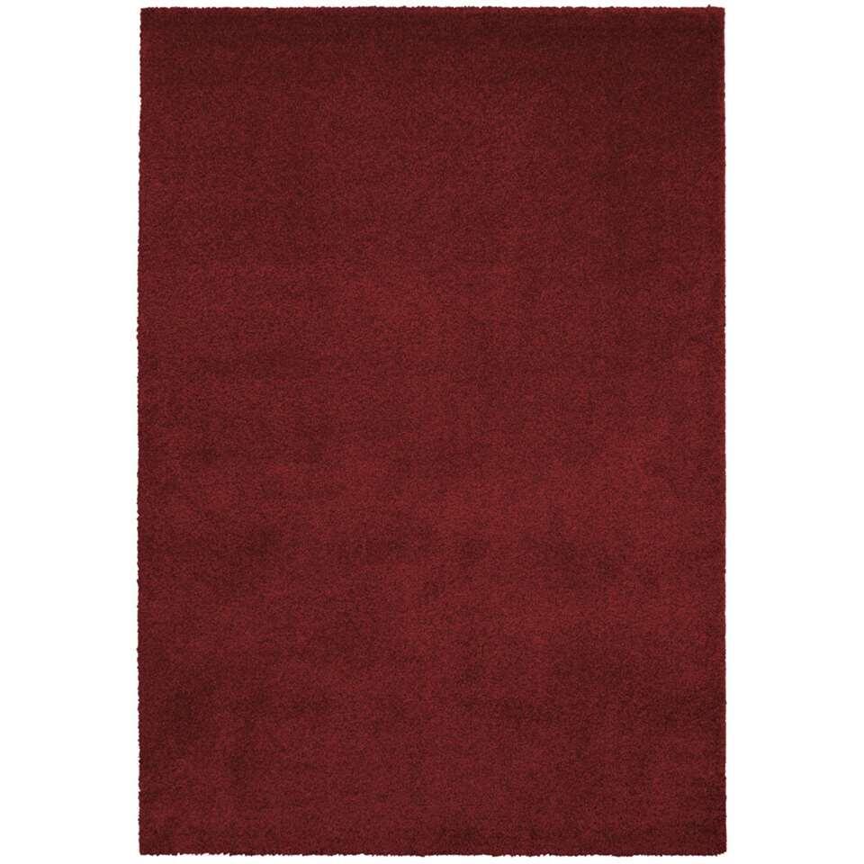 Vloerkleed Hayes - donkerrood - 80x150 cm - Leen Bakker