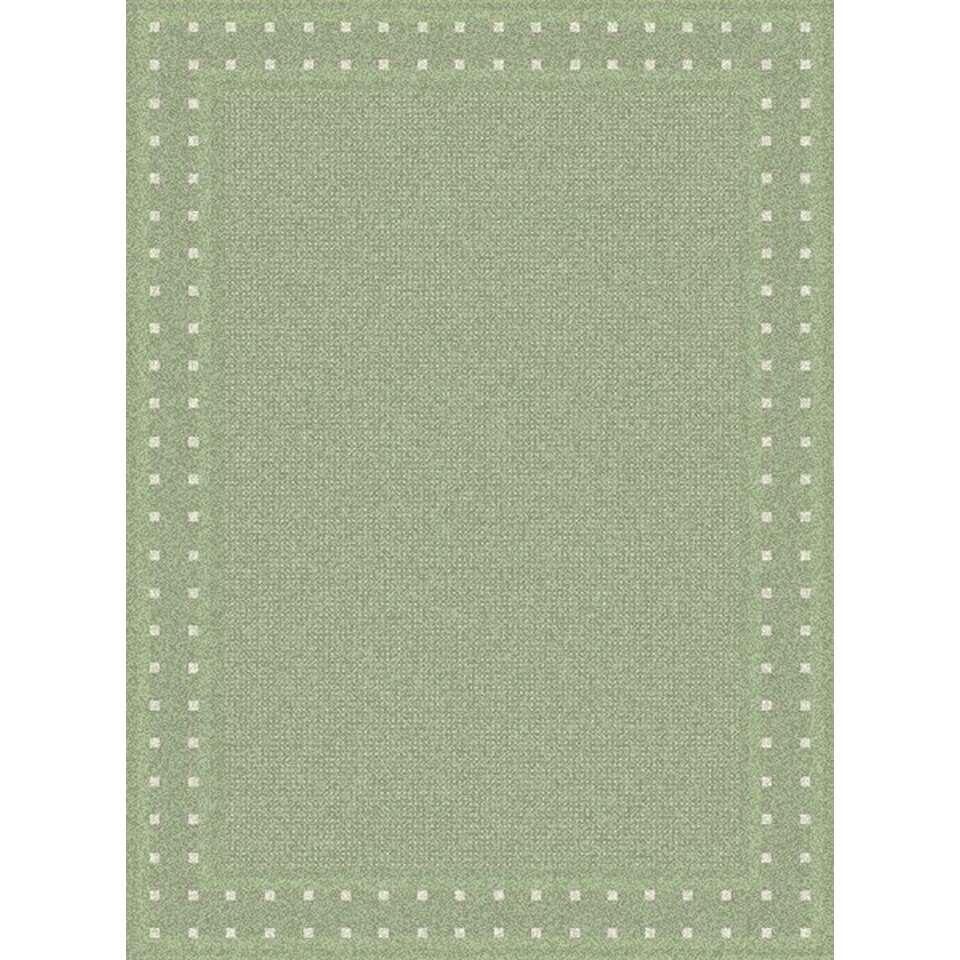Vloerkleed Edenfield - groen - vlakweef - 200x290 cm - Leen Bakker