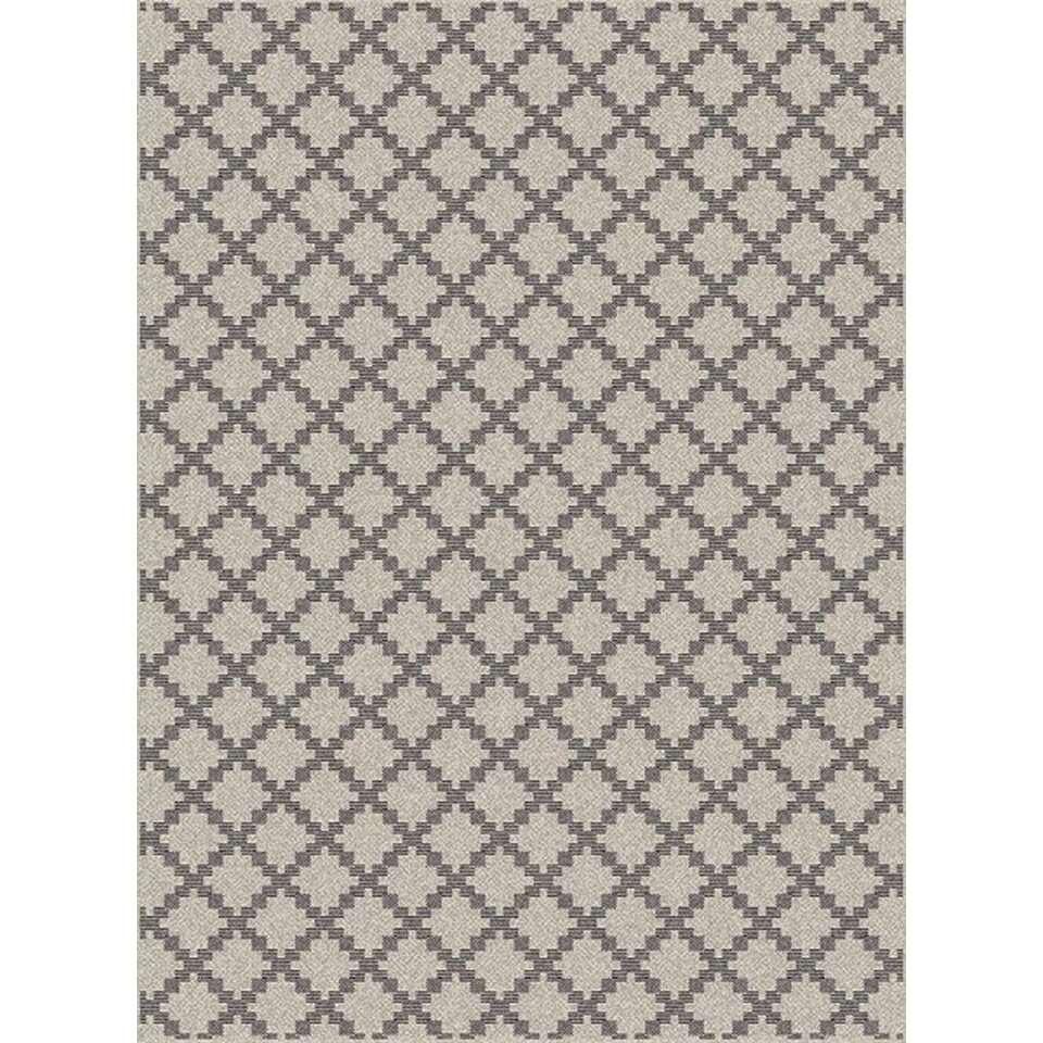 Vloerkleed Rivington - bruin - vlakweef - 120x170 cm - Leen Bakker