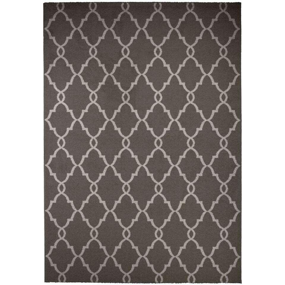 Vloerkleed Melrose - grijs - 120x170 cm - Leen Bakker