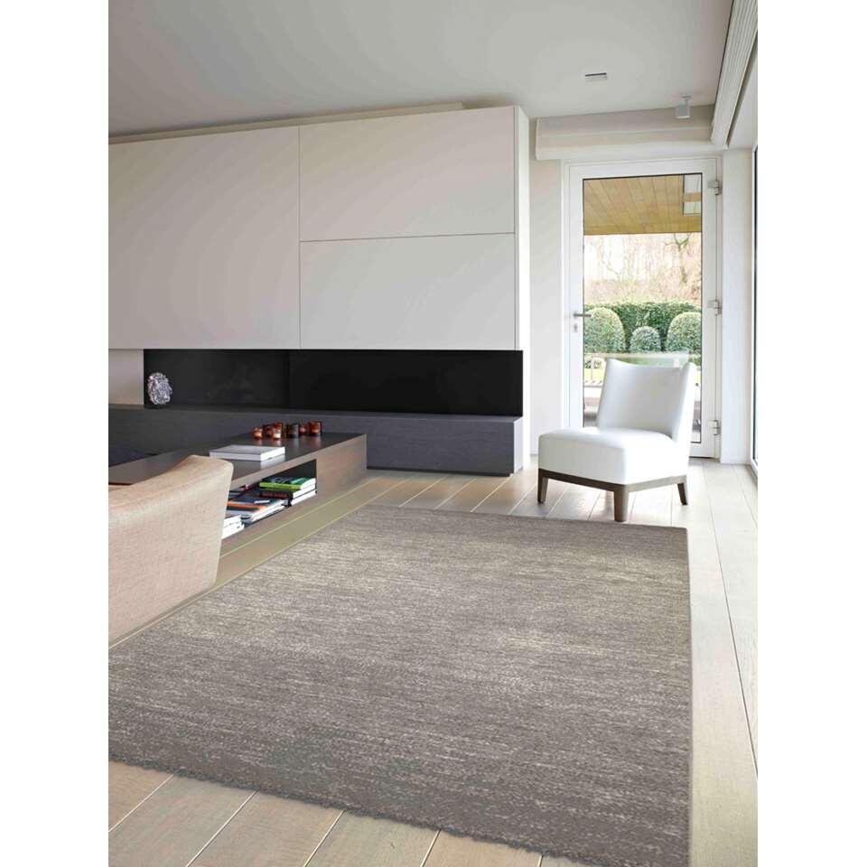 Vloerkleed Trent - grijs - 160x230 cm - Leen Bakker