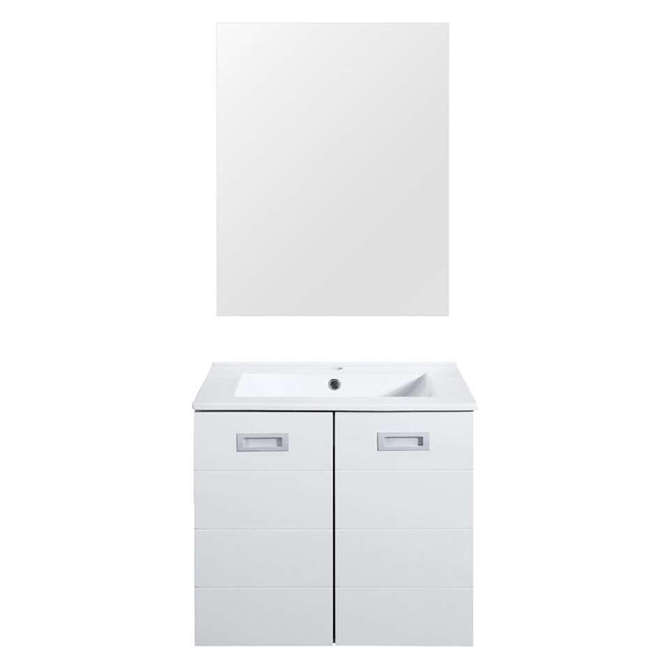 Differnz badkamermeubel Cinto - hoogglans wit - 60 cm - Leen Bakker