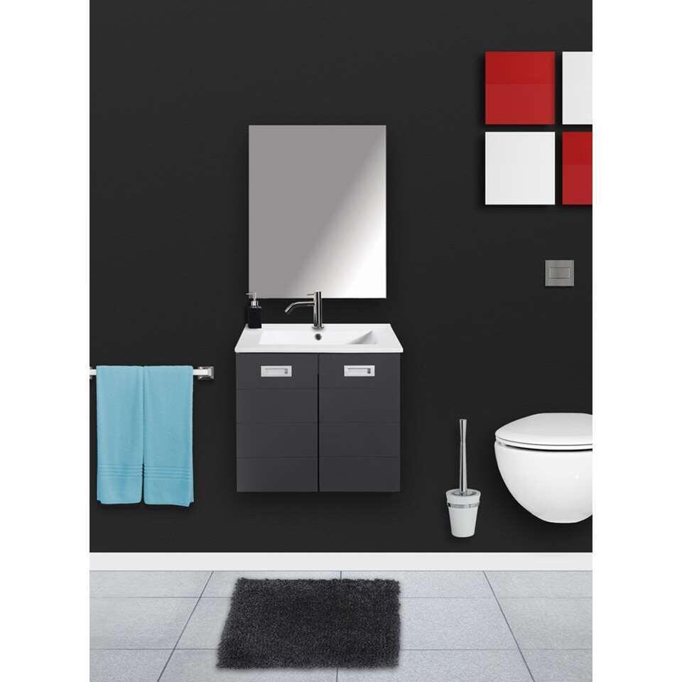 Differnz badkamermeubel Cinto - hoogglans grijs - 60 cm - Leen Bakker