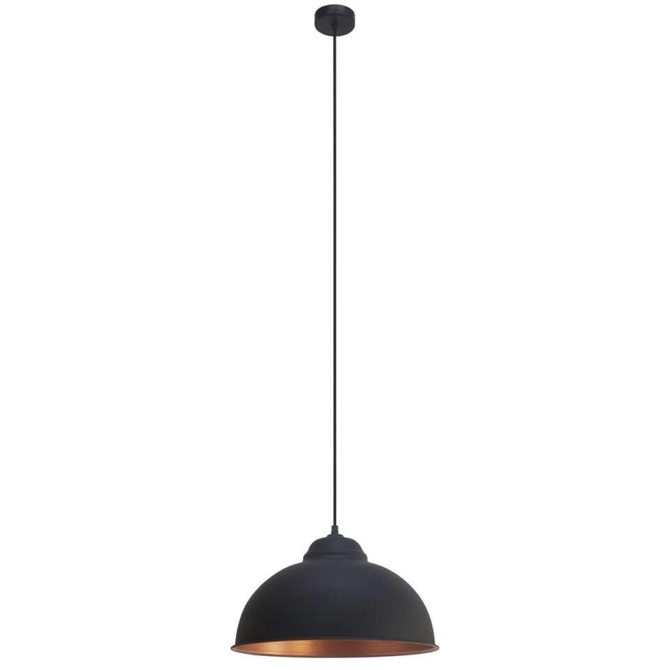 EGLO hanglamp Truro 2 - zwart/koper - Leen Bakker