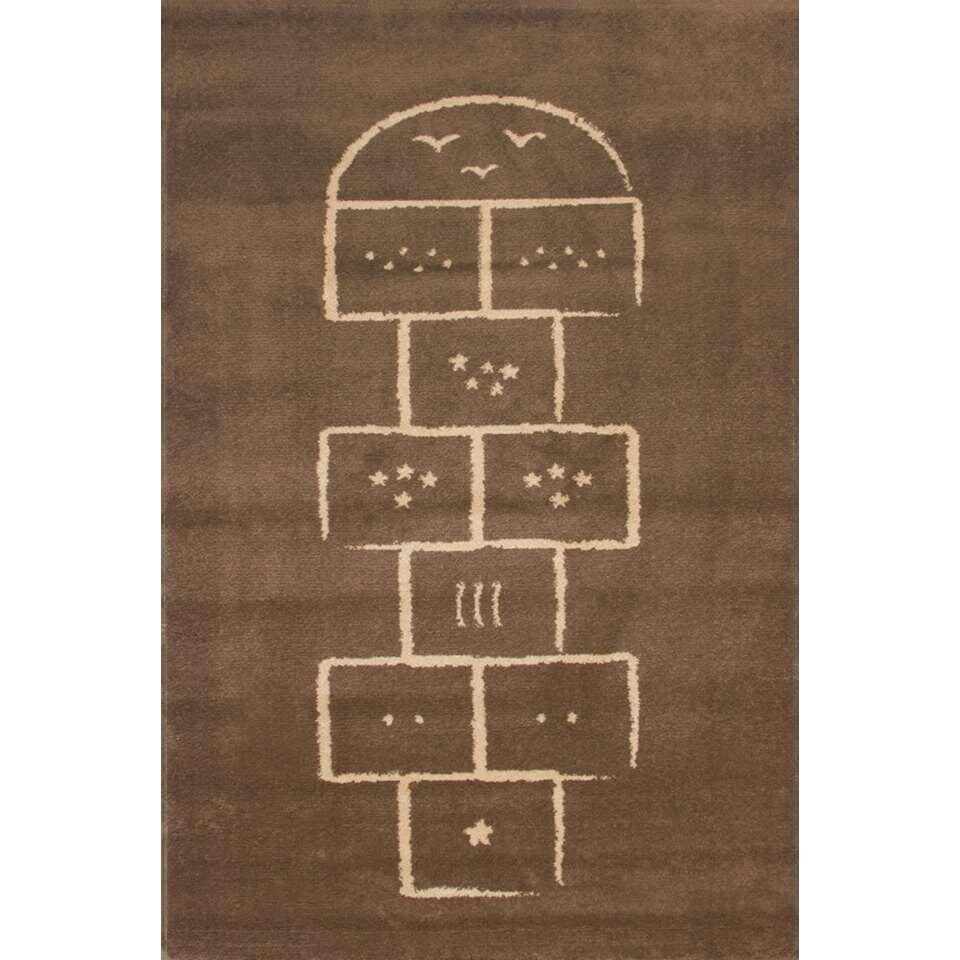 Art for Kids kindertapijt Hinkelbaan - bruin - 135x190 cm - Leen Bakker