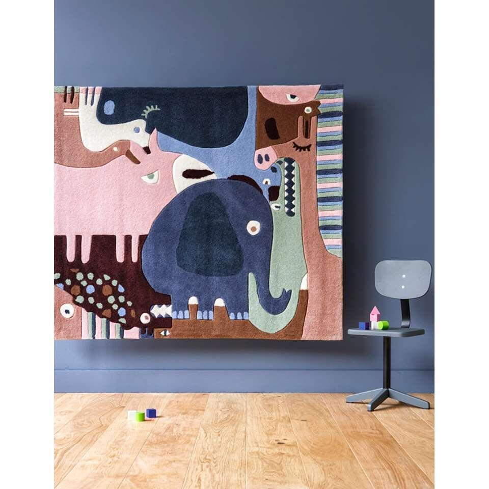 Art for Kids kindertapijt Bosdieren - 120x140 cm - Leen Bakker
