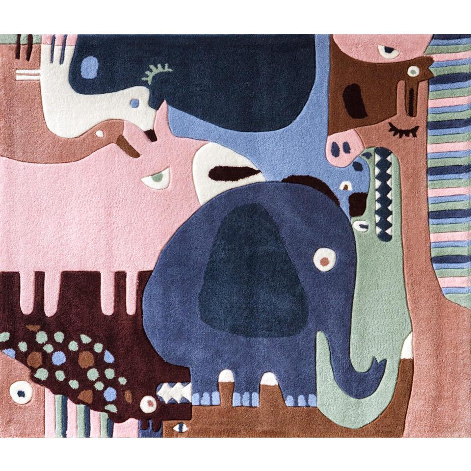 Art for Kids kindertapijt Bosdieren - 160x190 cm - Leen Bakker
