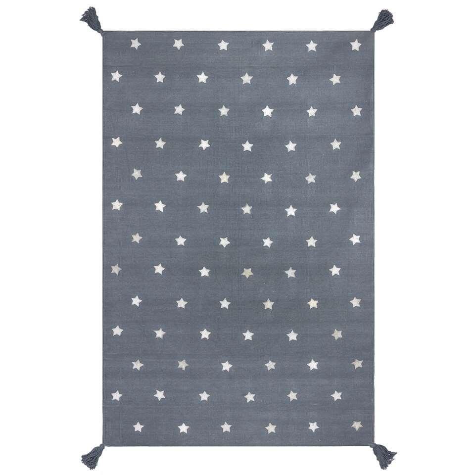 Art for Kids vloerkleed Sterretjes - grijs - 110x160 cm - Leen Bakker