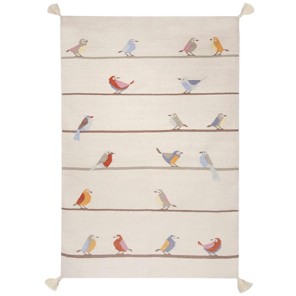 Art for Kids vloerkleed Vogeltjes - multikleur - 110x160 cm