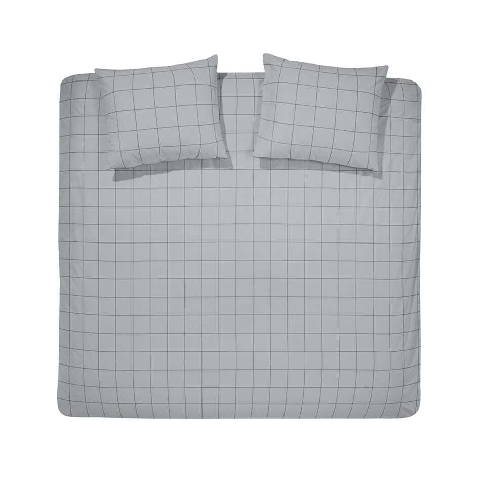 Damai dekbedovertrek Bar - grijs - 200x220 cm - Leen Bakker
