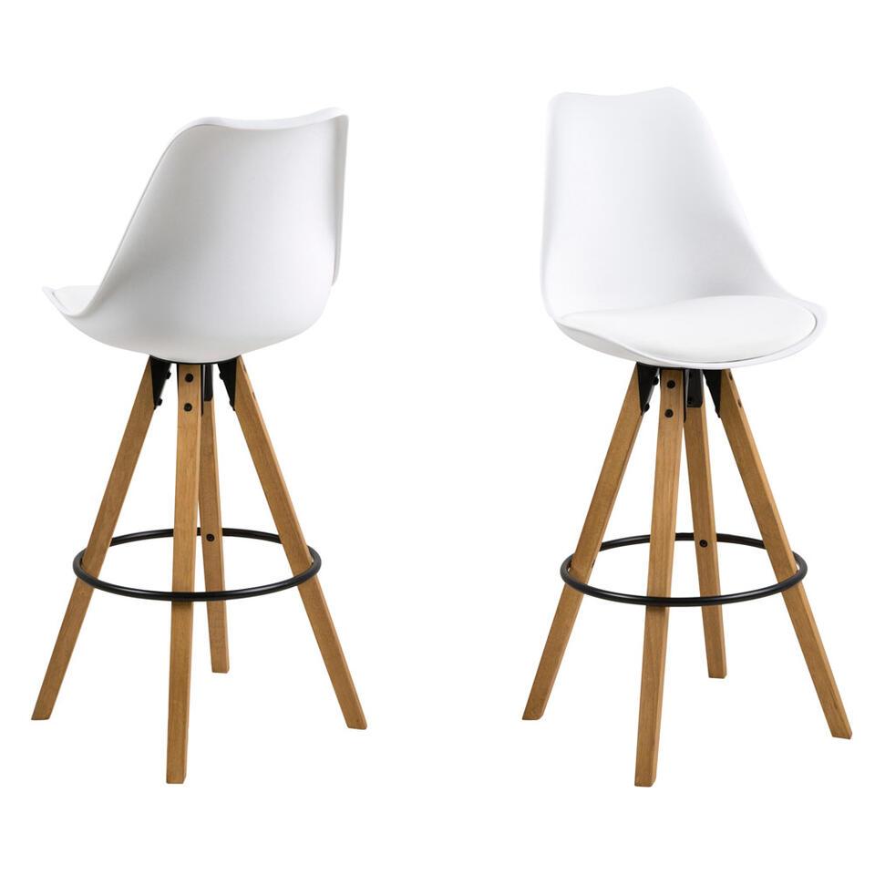 Moderne Witte Barstoelen.Barkruk Verdal Wit 2 Stuks