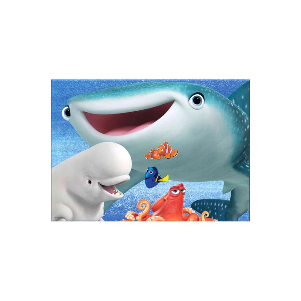 Graham & Brown canvas Finding Dory Shark - blauw - 70x50 cm