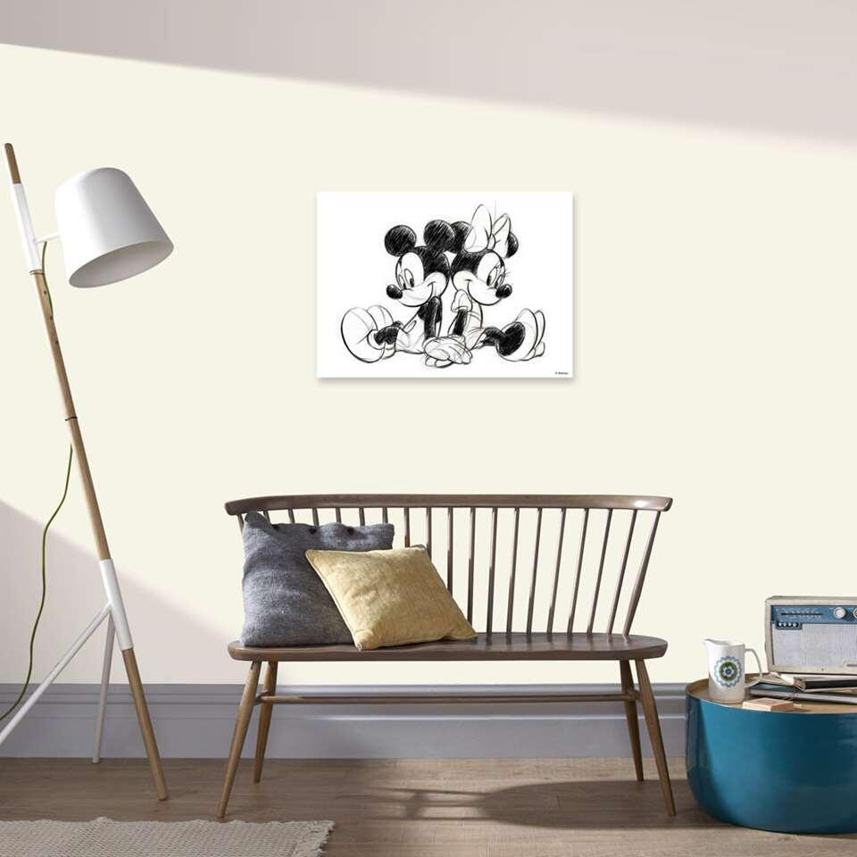 Graham & Brown canvas Mickey en Minnie Mouse sitting - wit - 70x50 cm