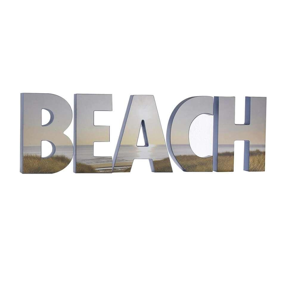 Graham & Brown 3D-letters Beach - bruin - 18x53 cm