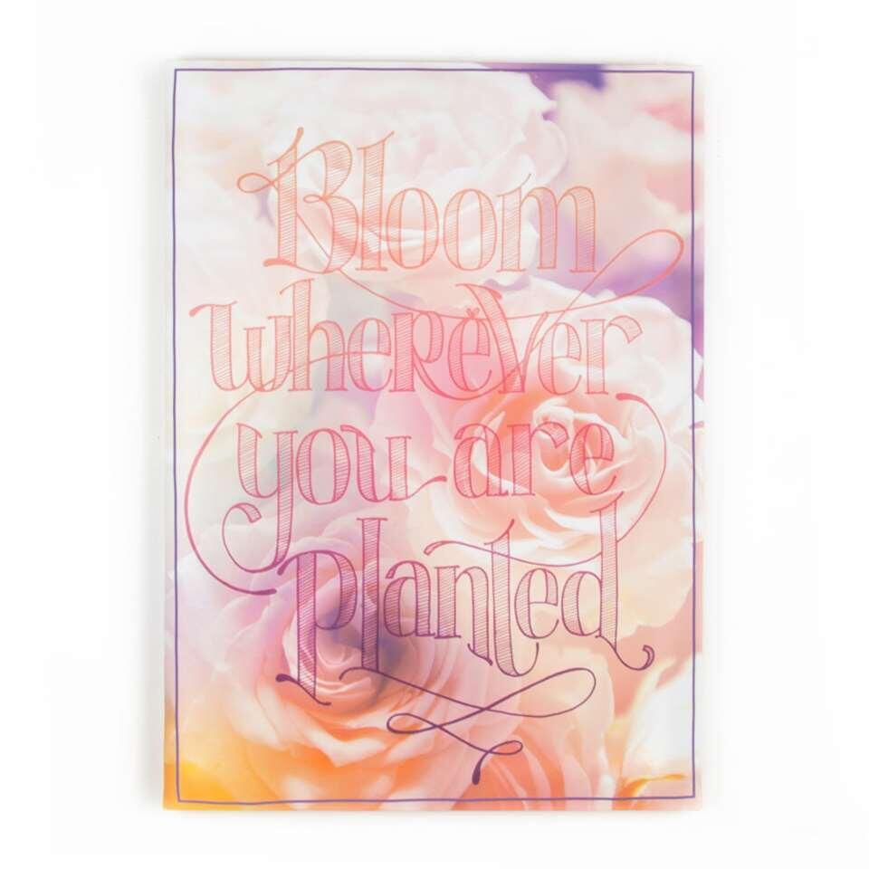 Graham & Brown canvas Bloom wherever you are Planted - multikleur - 50x70 cm - Leen Bakker