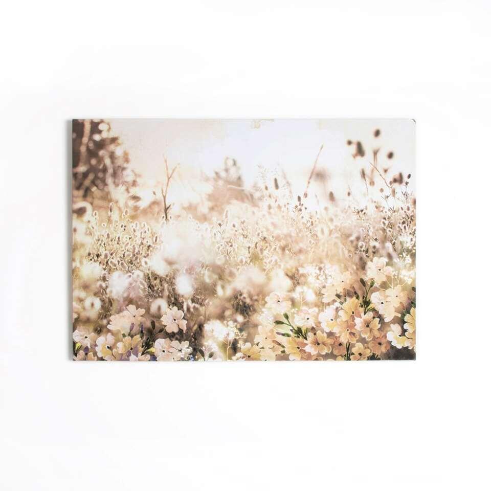 Graham & Brown canvas Layered Meadow Landscape - bruin - 100x70 cm - Leen Bakker