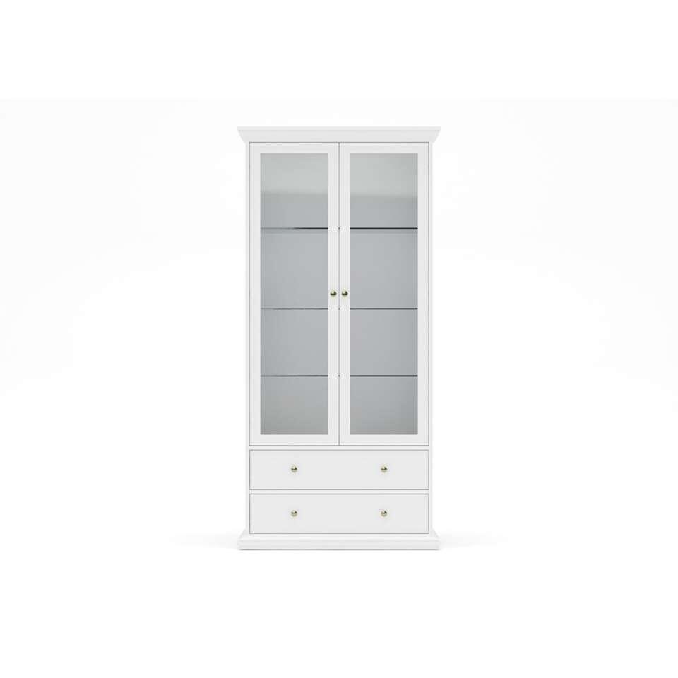 Buffetkast Paris – wit – 2 deuren – 2 lades – Leen Bakker