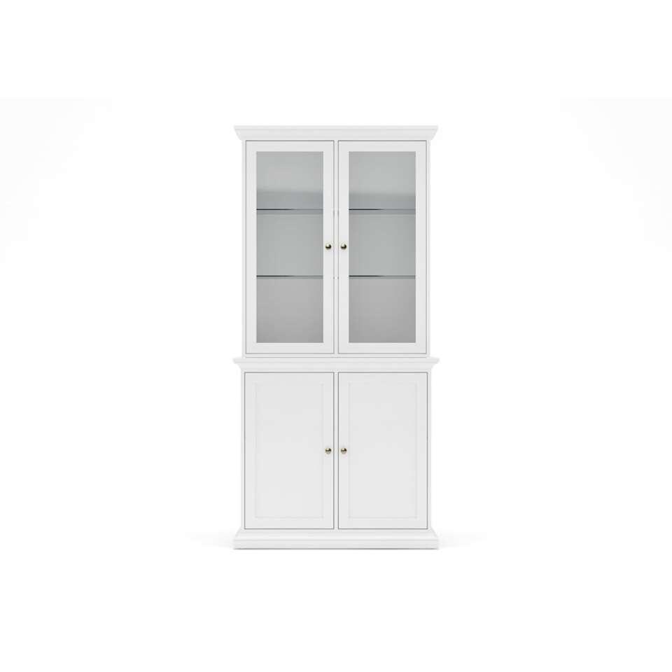 Buffetkast Paris - wit - 2 glazen deuren