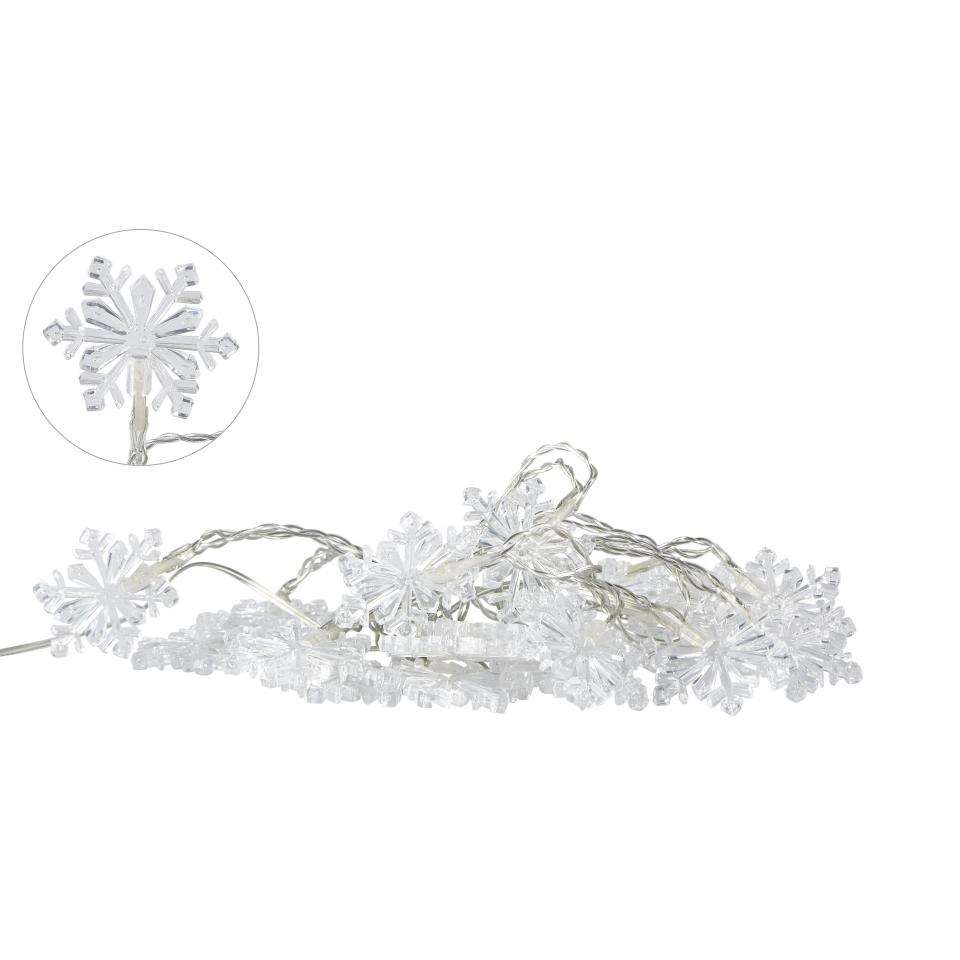 Villa Collection kerstverlichting Snowflake - 20 lampjes