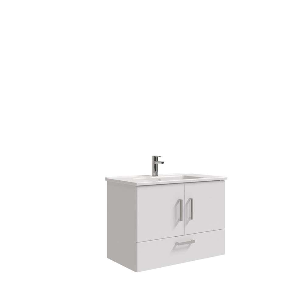 Bruynzeel badmeubel Omni - hoogglans wit - 64x85x45 cm - Leen Bakker