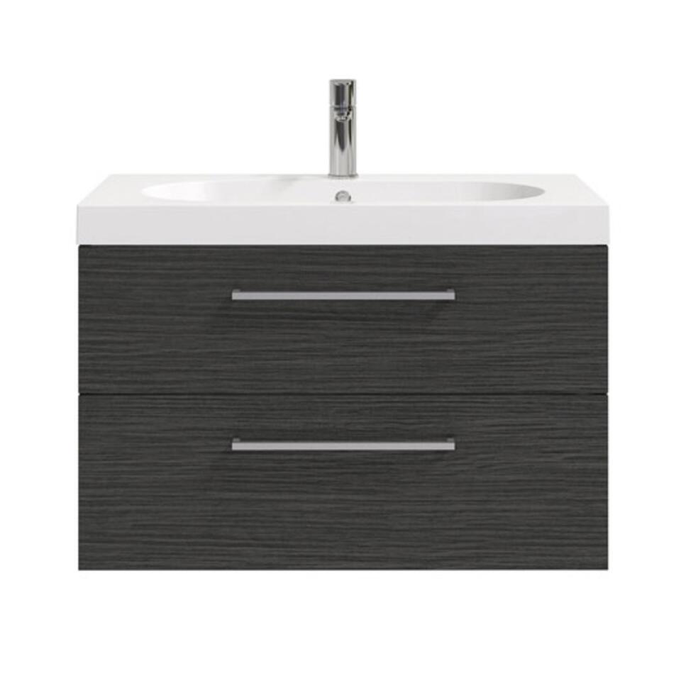 Bruynzeel badmeubel Luca - zwart - 80 cm - Leen Bakker