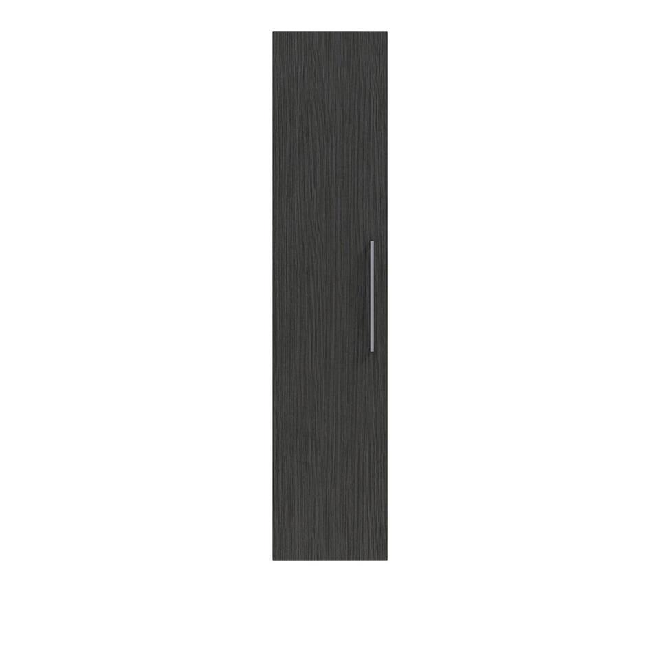 Bruynzeel kolomkast Luca - zwart - 160x35x35 cm - Leen Bakker