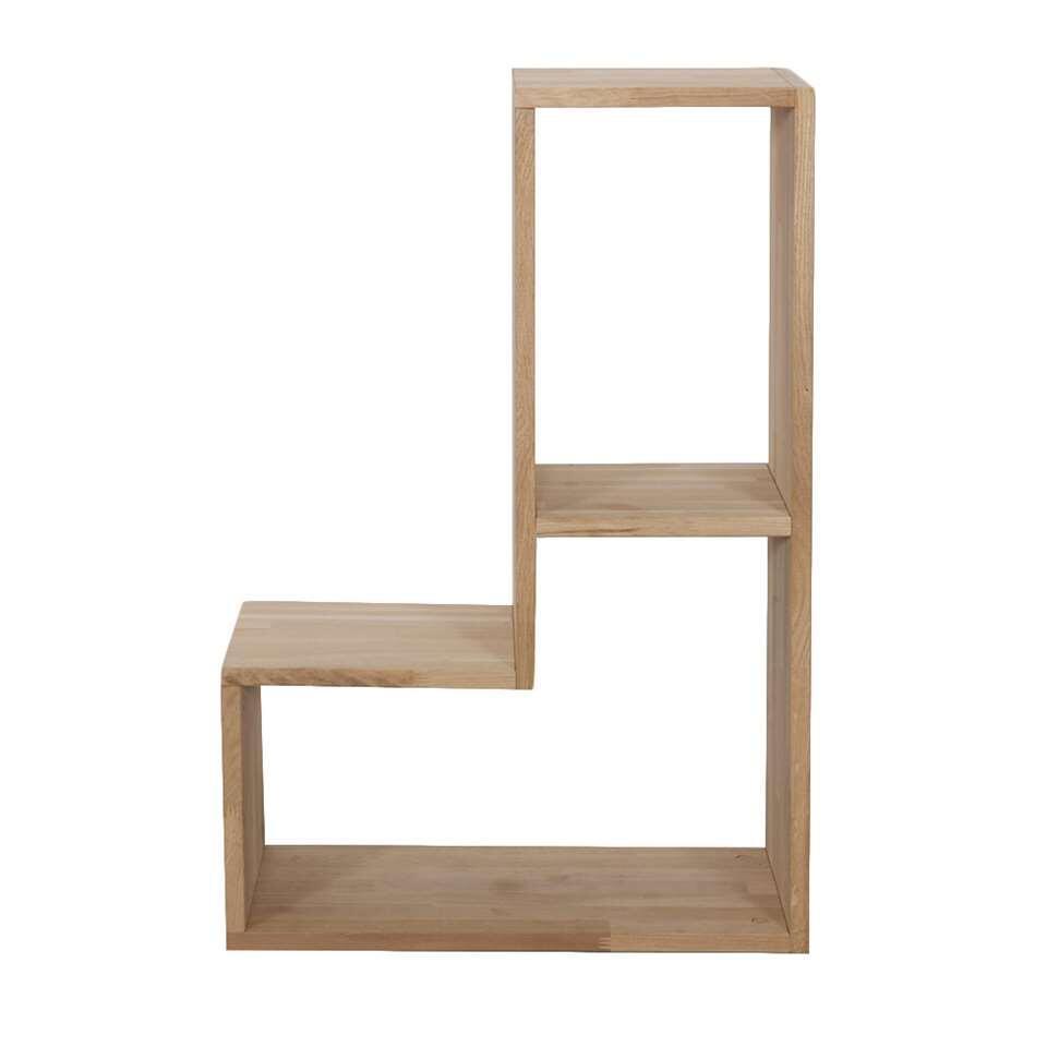 Woood boekenkast Tetris - eikenbruin - 54x80x27 cm - Leen Bakker
