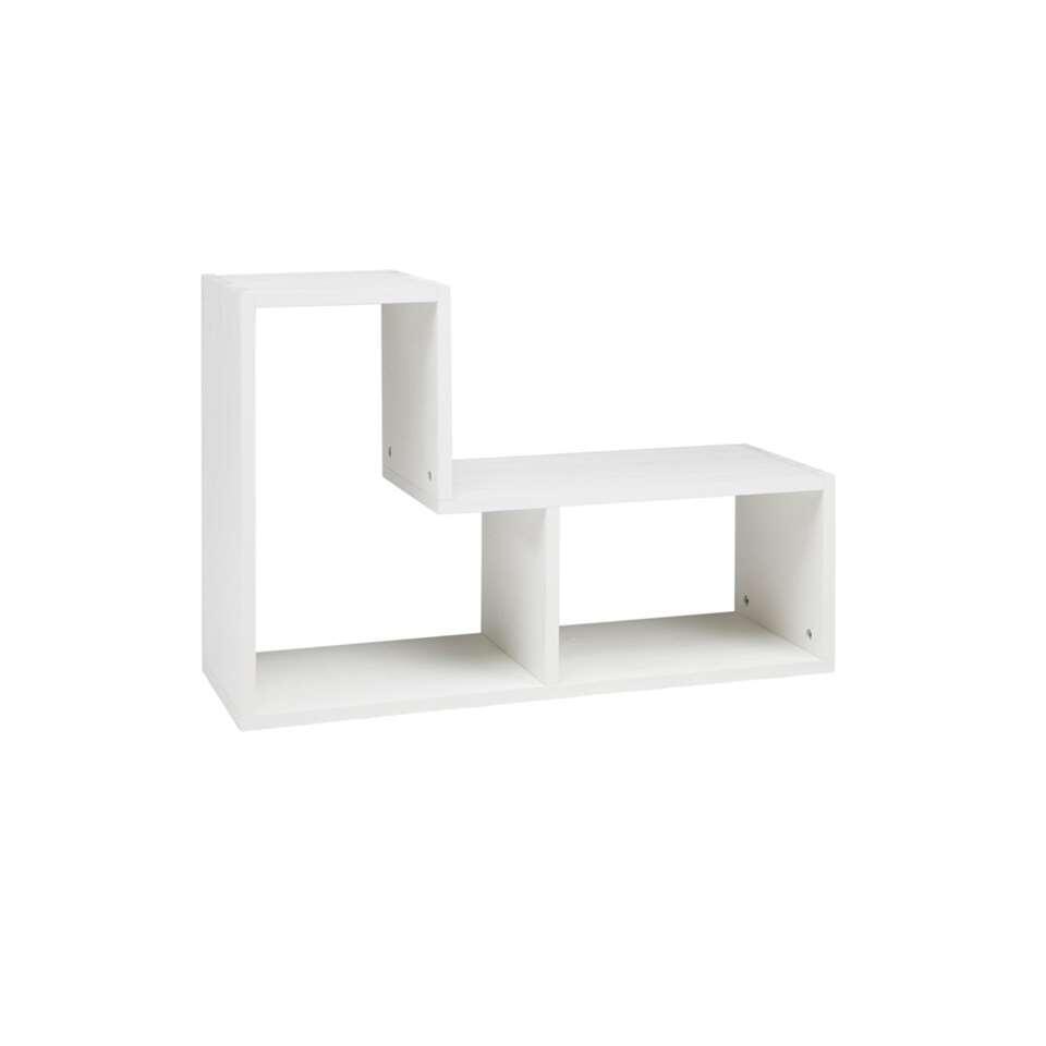Woood boekenkast Tetris - gebroken wit - 54x80x27 cm - Leen Bakker