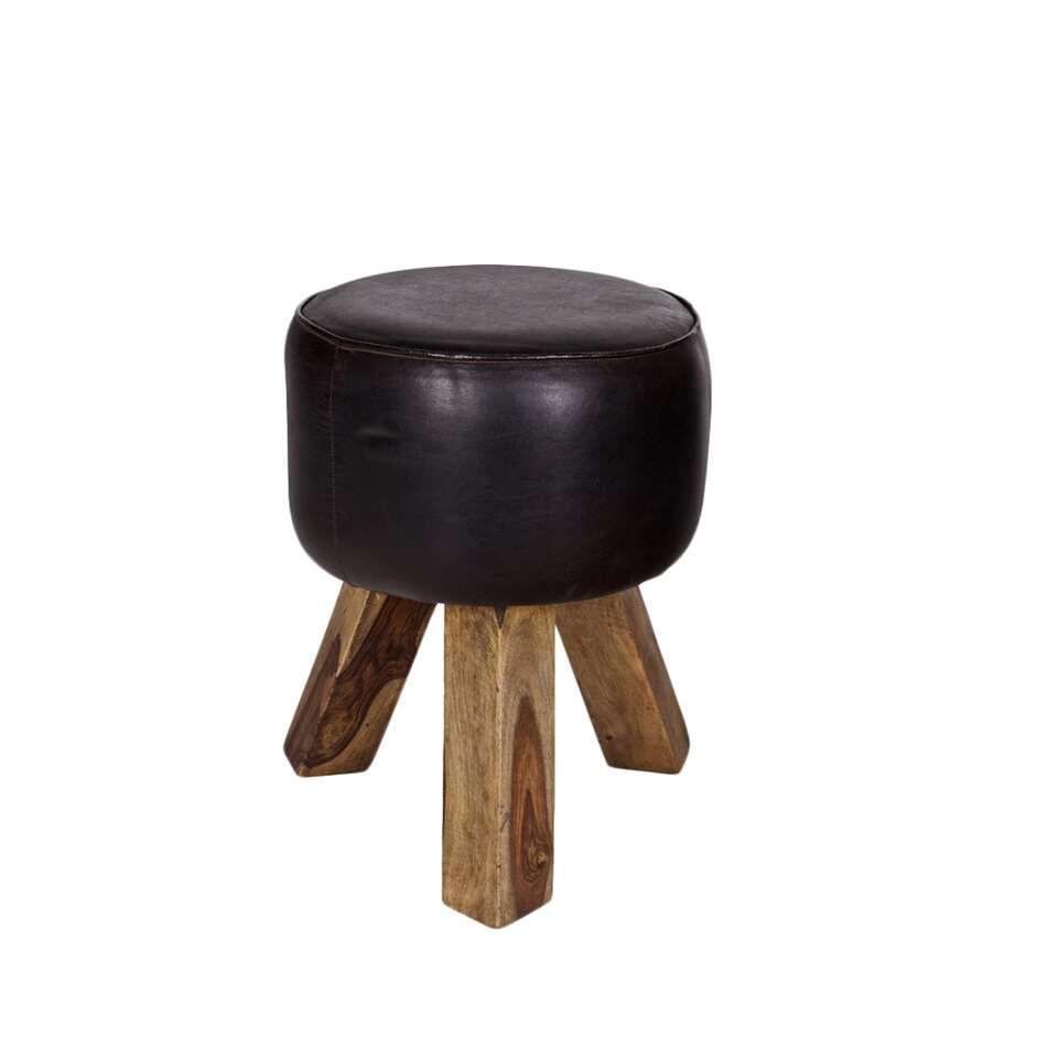 Woood kruk Bok - zwart - 44x35 cm - Leen Bakker