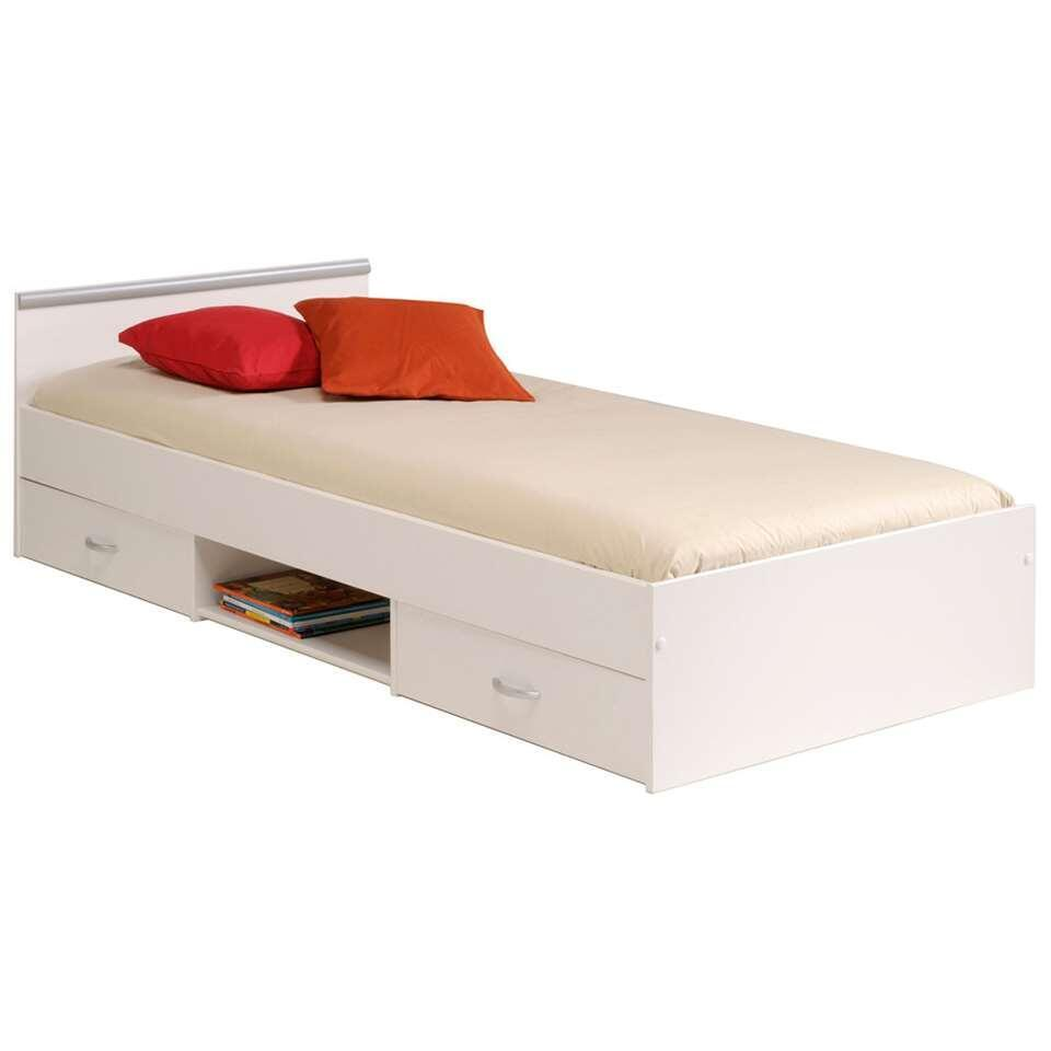 Bedombouw 1 Persoonsbed.Bed Montana Incl Lades Wit 90x200 Cm