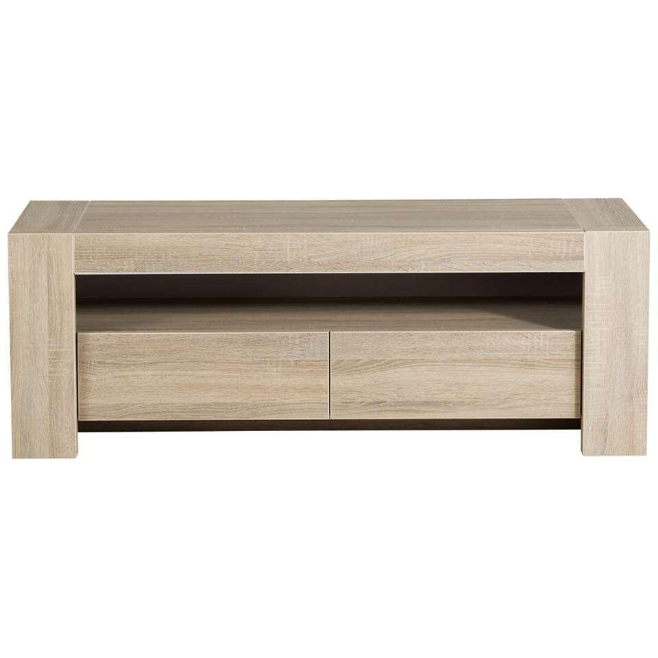 TV-meubel Logan - eiken - 143x51x49 cm - Leen Bakker