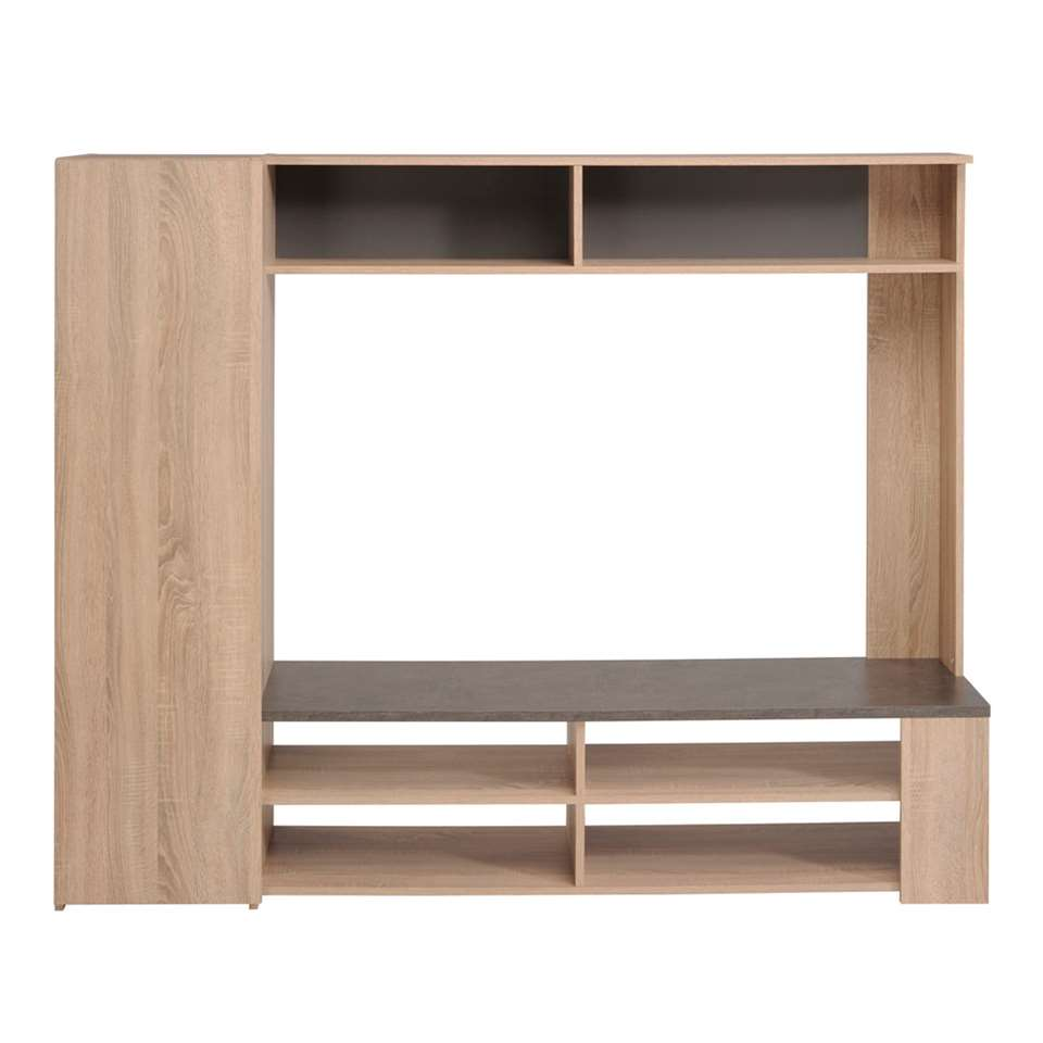 TV-meubel Jackson - eiken - 166x138x41 cm - Leen Bakker