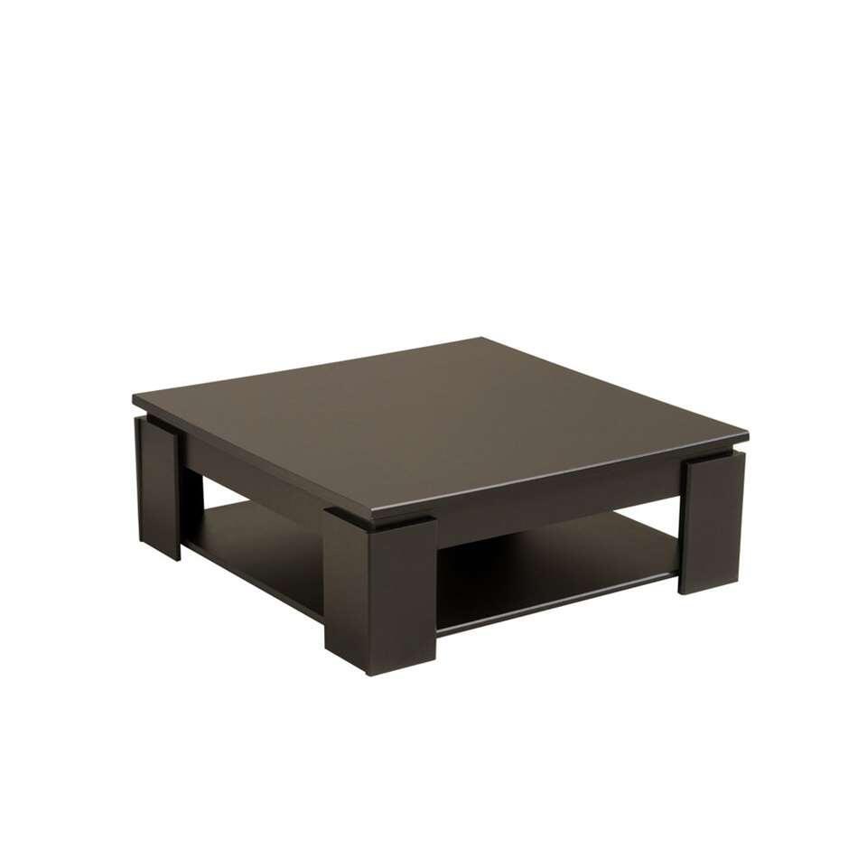 Salontafel Troy - hoogglans zwart - 89x31x89 cm - Leen Bakker