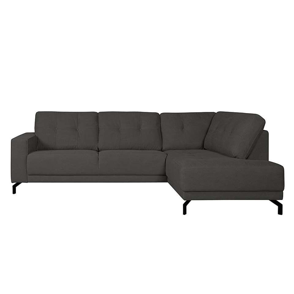 Hoekbank Lotte rechts - zwart on chaise sofa sleeper, chaise recliner chair, chaise furniture,