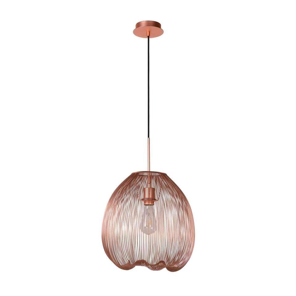 Lucide hanglamp Wirio - koper - Leen Bakker