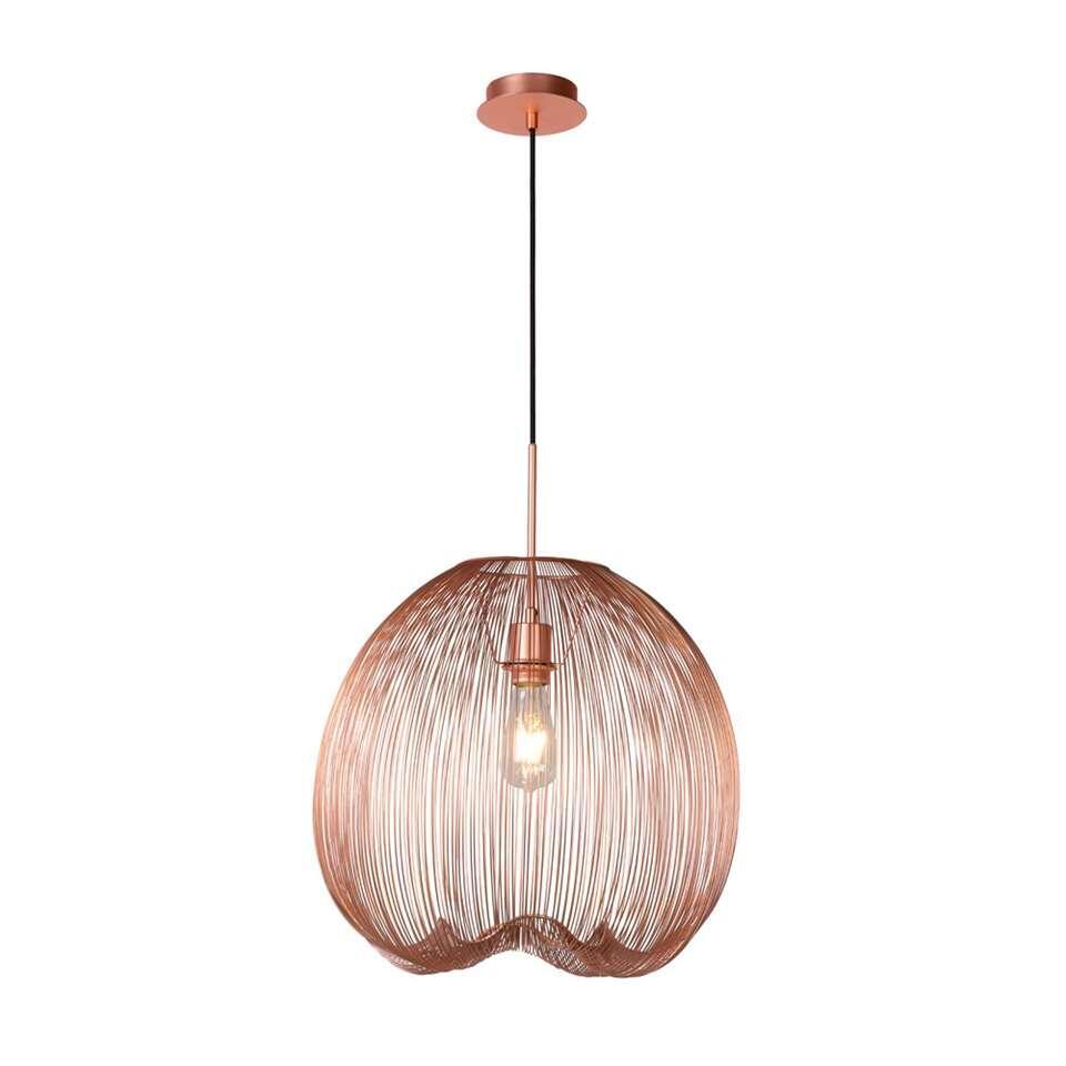Lucide hanglamp Wirio - koperkleur - Leen Bakker